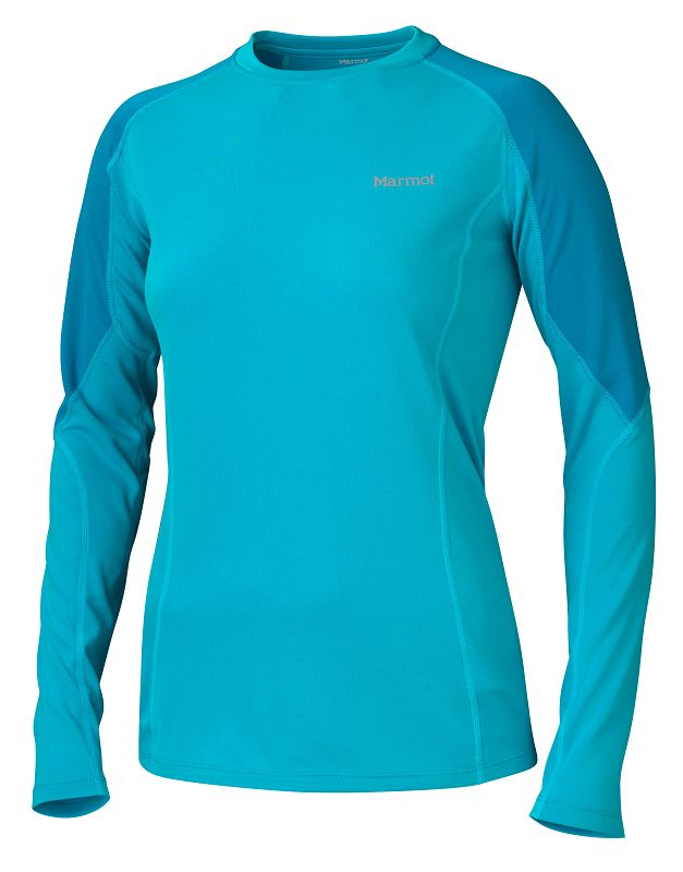 Marmot Wm's ThermalClime Pro LS Crew Sea Breeze/Aqua Blue-30
