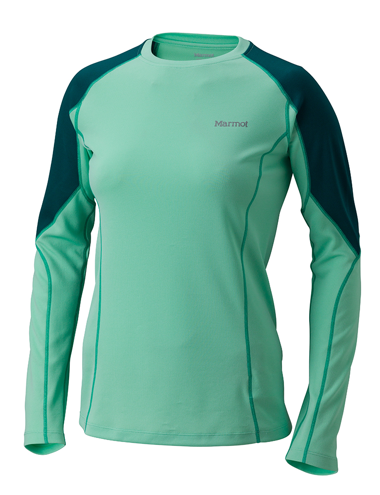 Marmot Wms ThermalClime Sprt LS Crew Green Frost-30