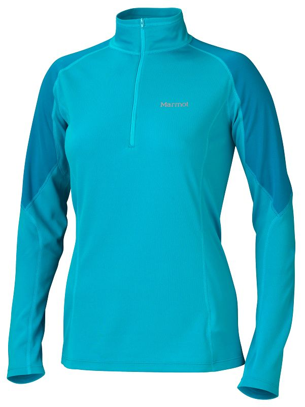 Marmot Wm's ThermalClime Pro 1/2 Zip Sea Breeze/Aqua Blue-30