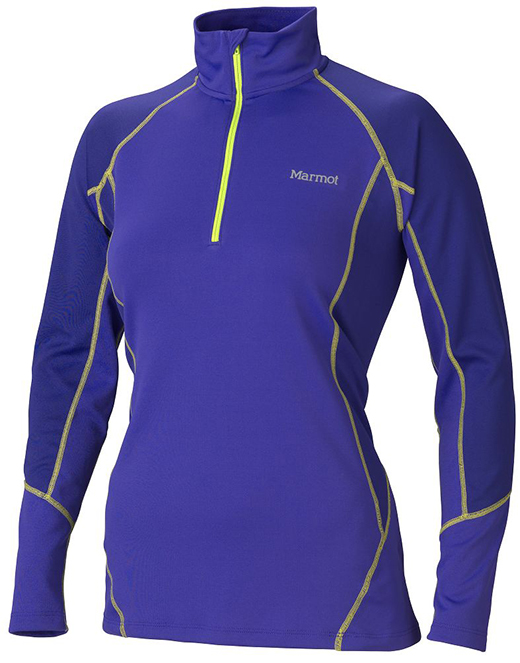 Marmot Wm's ThermalClime Pro LS 1/2 Zip Electric Blue/Midnight Purple-30