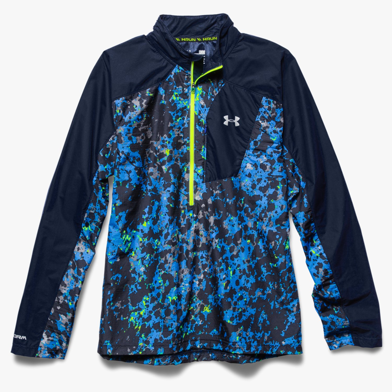 Under Armour UA Storm Launch ½ Zip Run Jacket Blue Jet/High-Vis Yellow-30