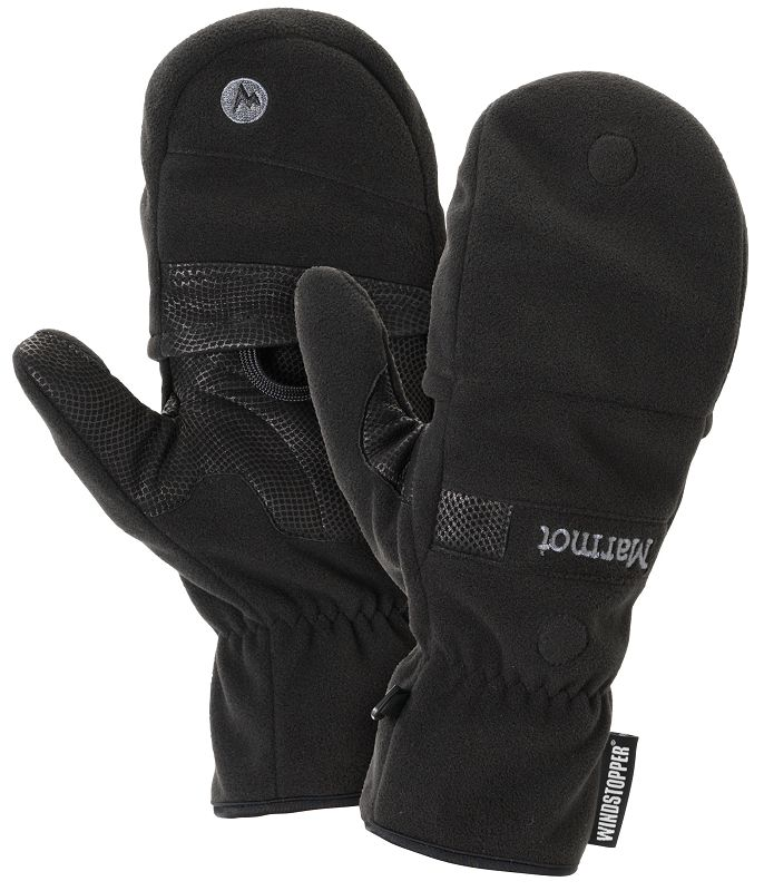 Marmot Windstopper Convertible Glove Black-30