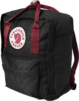 FjallRaven Kanken Mini Black-Ox Red-30