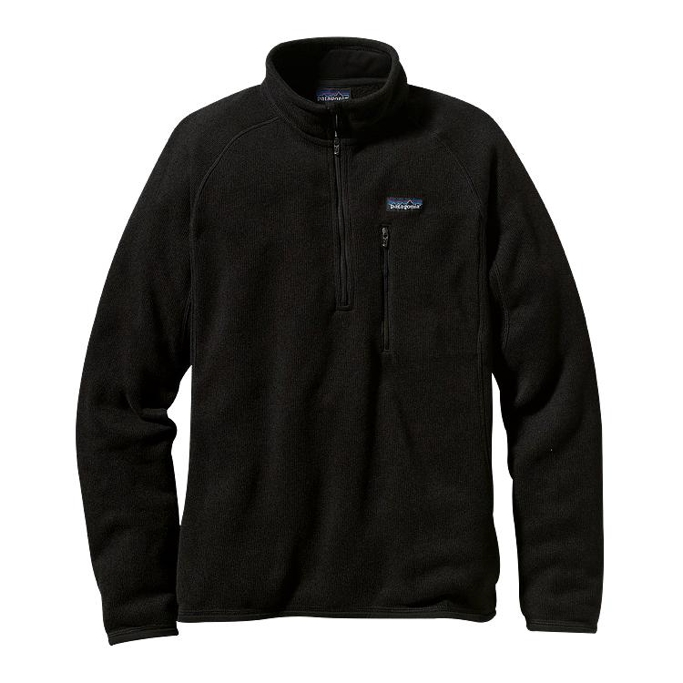 Patagonia - Better Sweater 1/4 Zip Black - Pullover - XXL