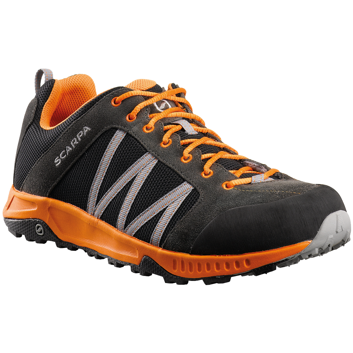Scarpa - Rapid Black-Orange - Trailrunning Shoes - 41