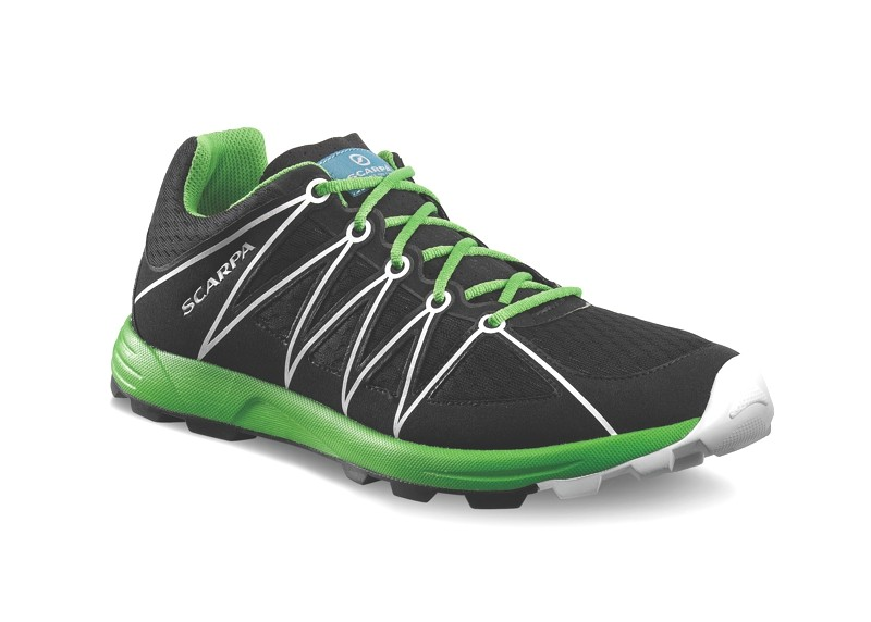 Scarpa - Minima Black-Green - Trailrunning Shoes - 42,5