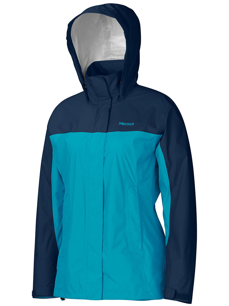 Marmot Wm's PreCip Jacket Sea Breeze/Arctic Navy-30