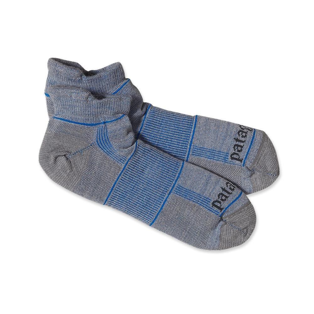 Patagonia Ultra Lightweight Merino Run Anklet Socks XL Feather Grey-30