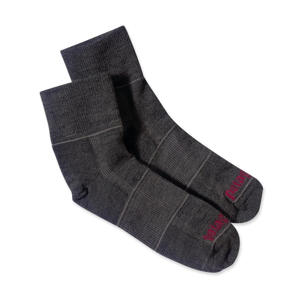 Patagonia Ultra Lightweight Merino Run 1/4 Socks Forge Grey-30