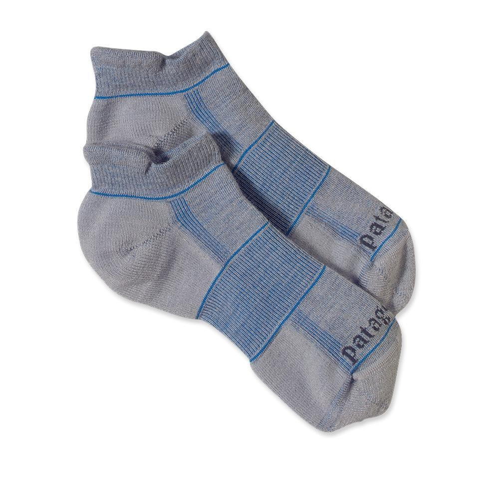 Patagonia Lightweight Merino Run Anklet Socks Feather Grey-30