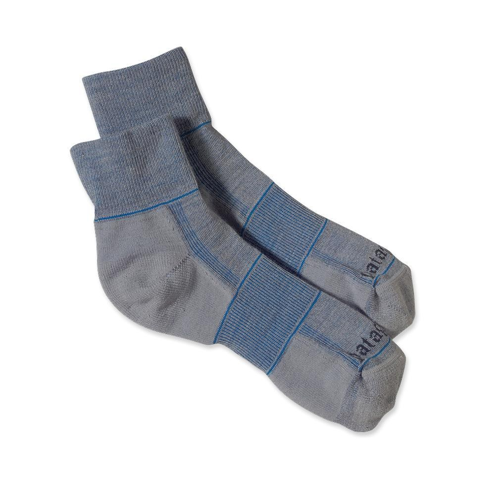 Patagonia Lightweight Merino Run 1/4 Socks Feather Grey-30