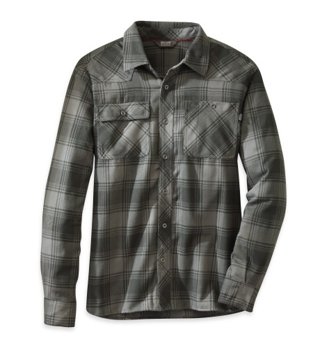 Outdoor Research Men´s Feedback Flannel Shirt Pewter/Black-30
