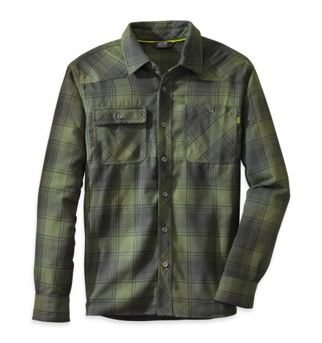 Outdoor Research Men´s Feedback Flannel Shirt Hops/Black-30