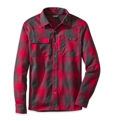 Outdoor Research Men´s Feedback Flannel Shirt Redwood/Black-30