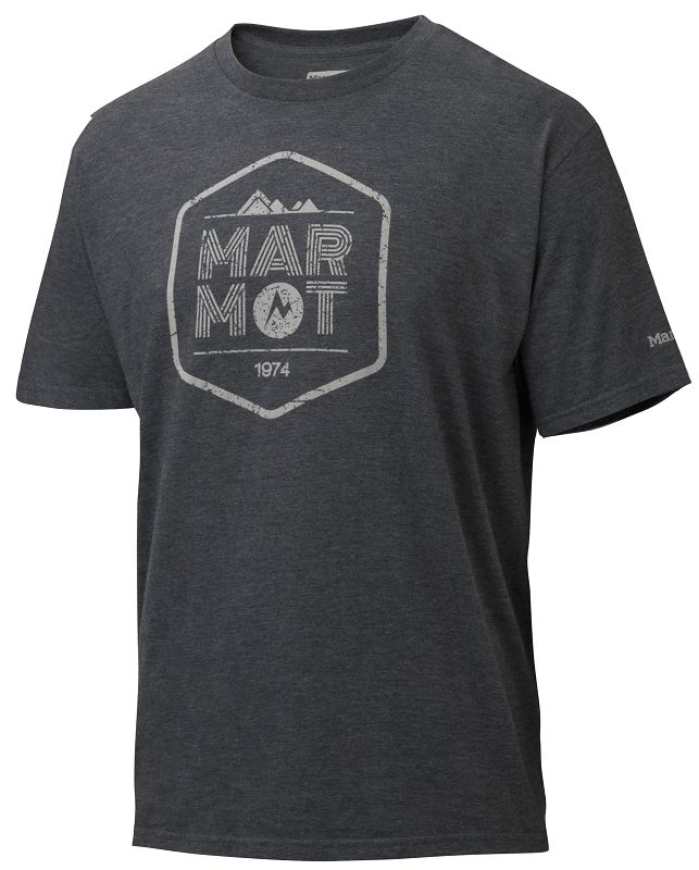Marmot Just Marmot Tee SS Charcoal Heather-30