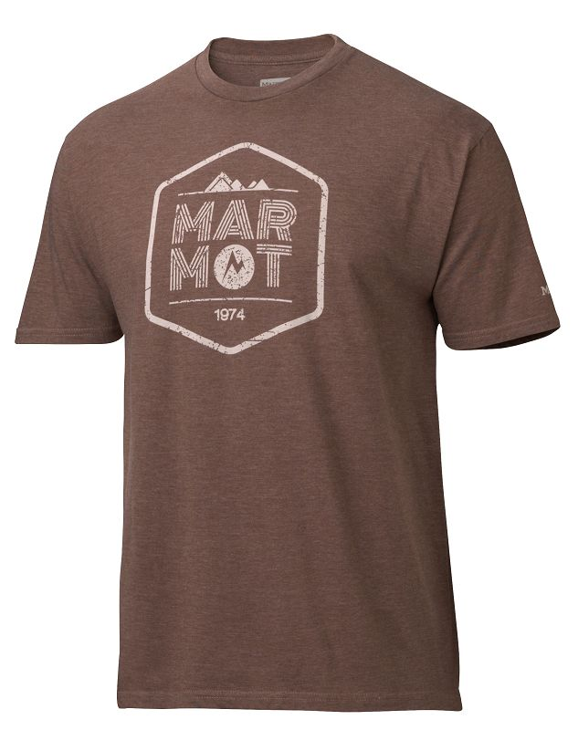 Marmot Just Marmot Tee SS Dark Brown Heather-30