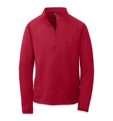 Outdoor Research Men´s Radiant LT Zip Top 462-REDWOOD-30