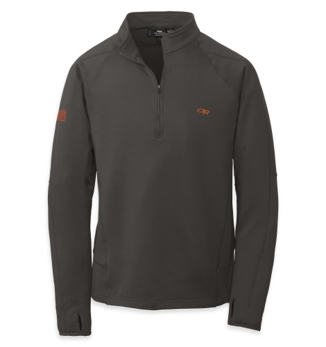 Outdoor Research Men´s Radiant LT Zip Top 890-CHARCOAL-30