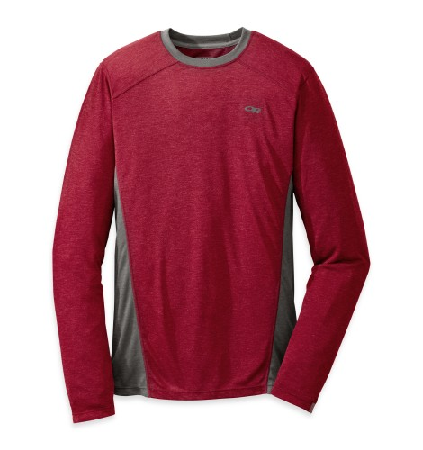 Outdoor Research Men´s Sequence L/S Crewe 146-REDWOOD/CHARCOAL-30