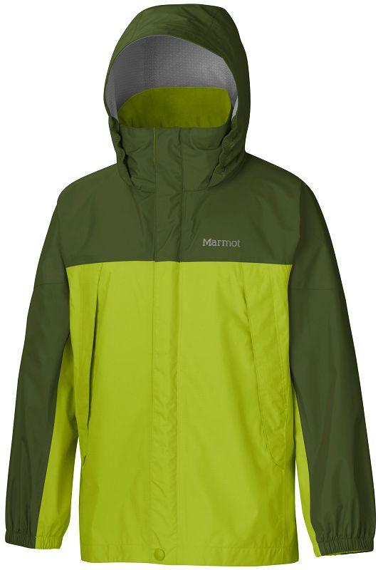 Marmot Boy's PreCip Jacket Green Lichen/Greenland-30
