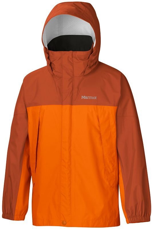 Marmot Boy's PreCip Jacket Vintage Orange/Warm Spice-30