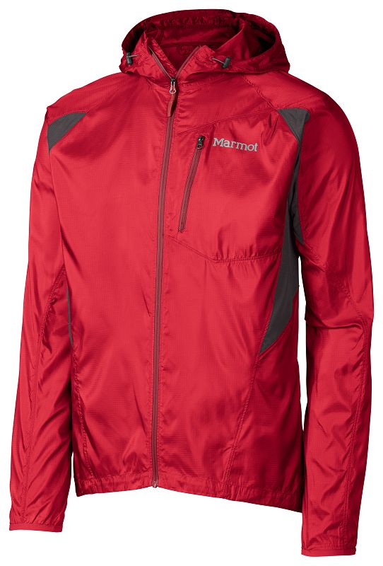 Marmot Trail Wind Hoody Team Red/Slate Grey-30