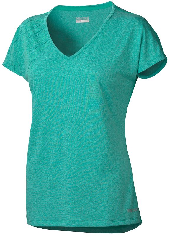Marmot Wm's Layer Up Tee SS Gem Green Heather-30
