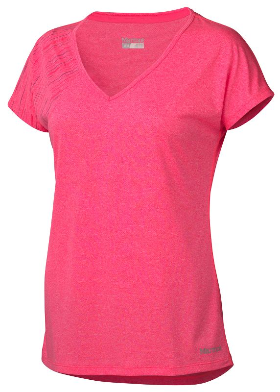Marmot Wm's Layer Up Tee SS Bright Pink Heather-30