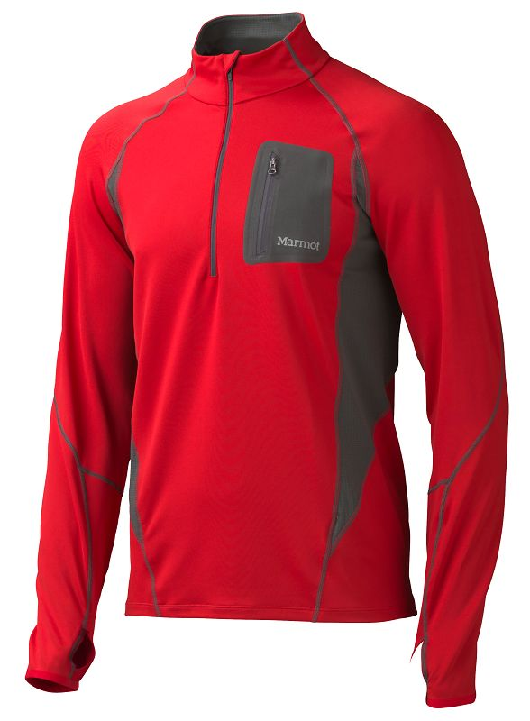 Marmot Elance 1/2 Zip LS Team Red-30