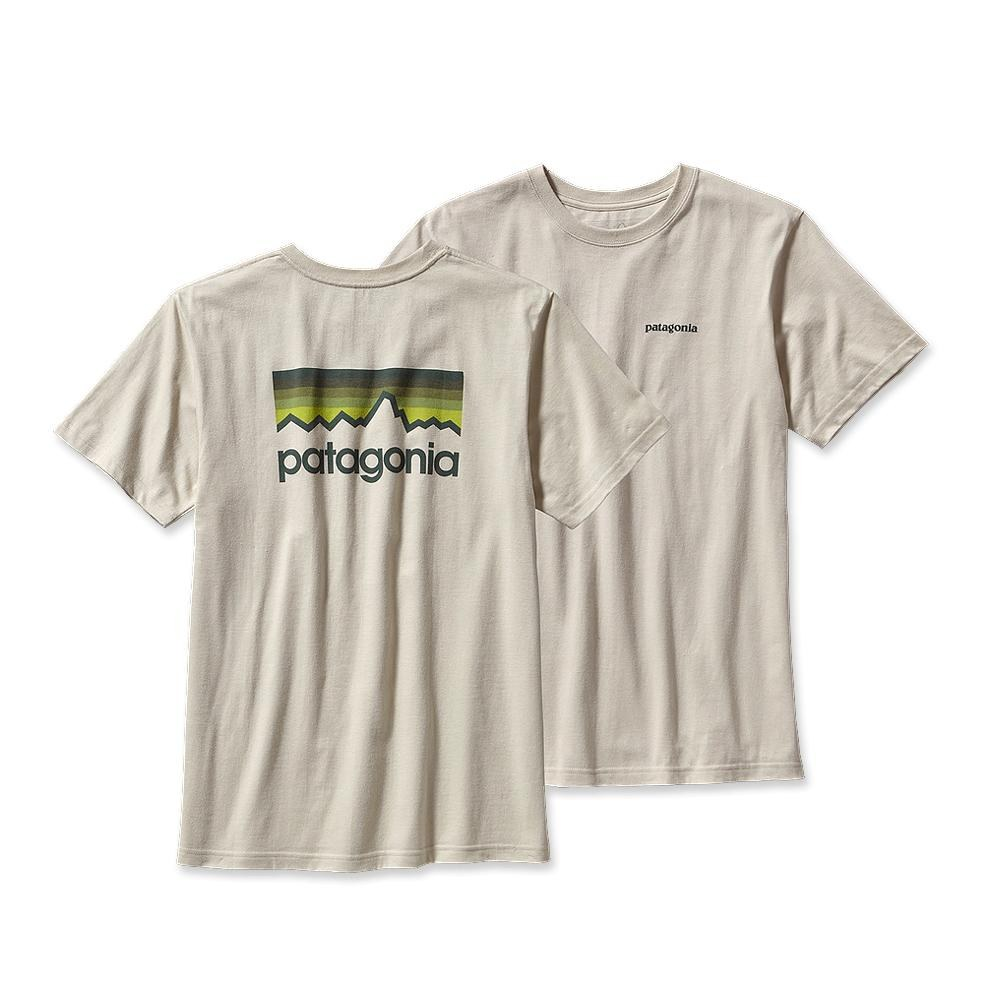 Patagonia Line Logo T-Shirt Bleached Stone-30