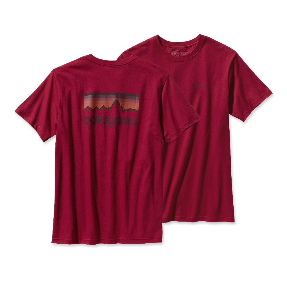 Patagonia Line Logo T-Shirt Wax Red-30