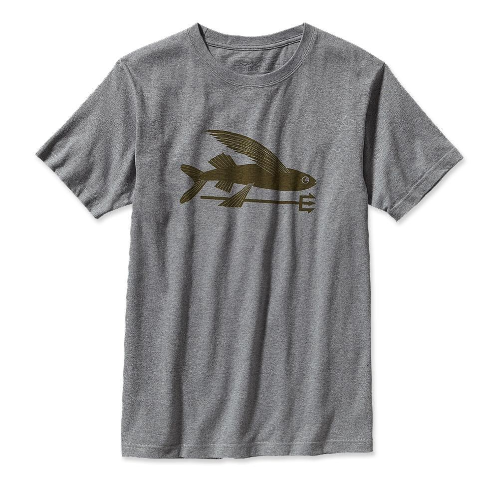 Patagonia Flying Fish T-Shirt Gravel Heather-30