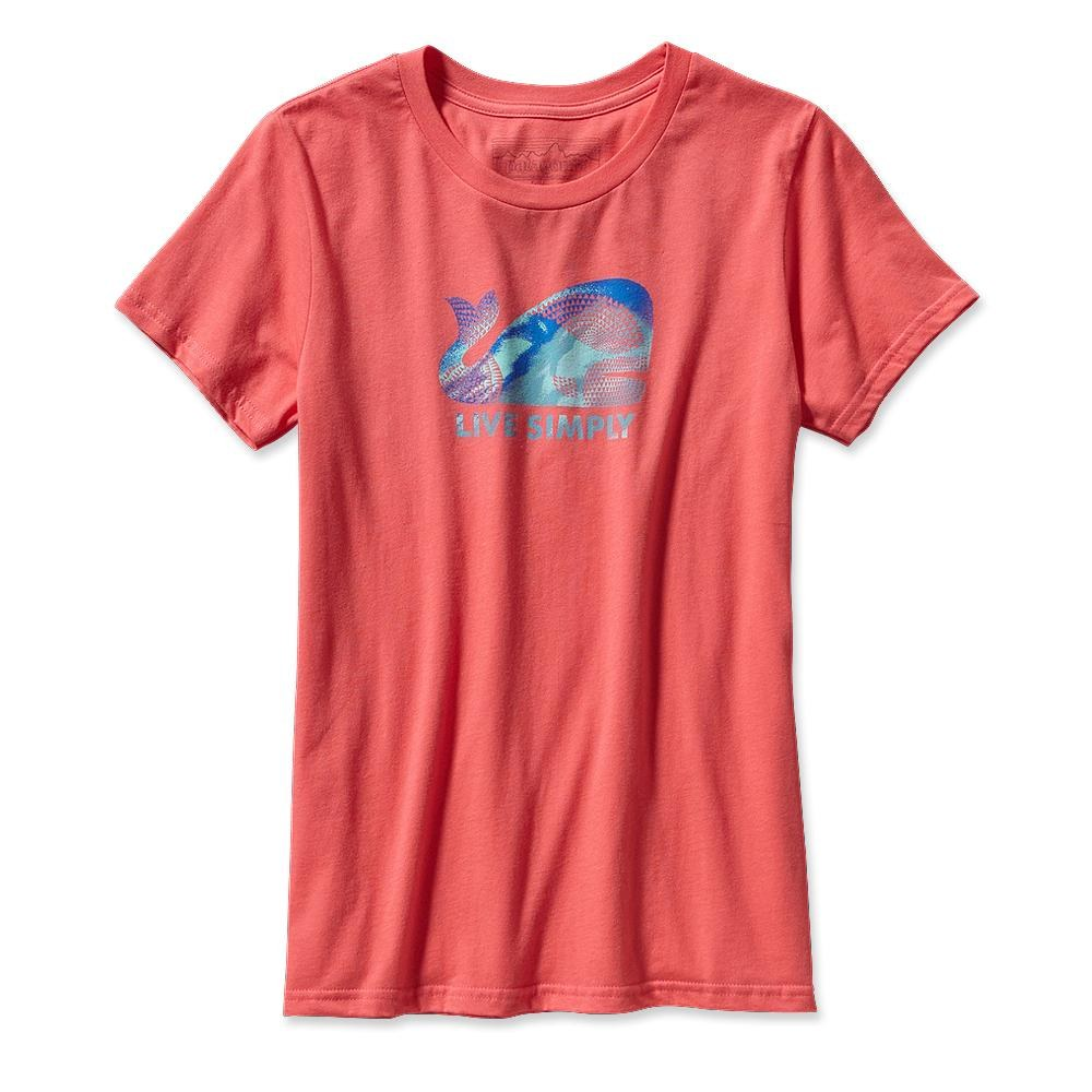 Patagonia Live Simply Geometric Whale T-Shirt Coral-30
