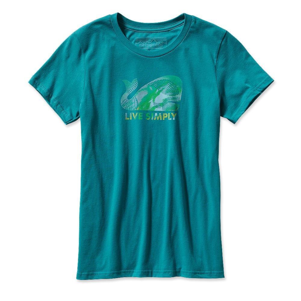 Patagonia Live Simply Geometric Whale T-Shirt Tobago Blue-30