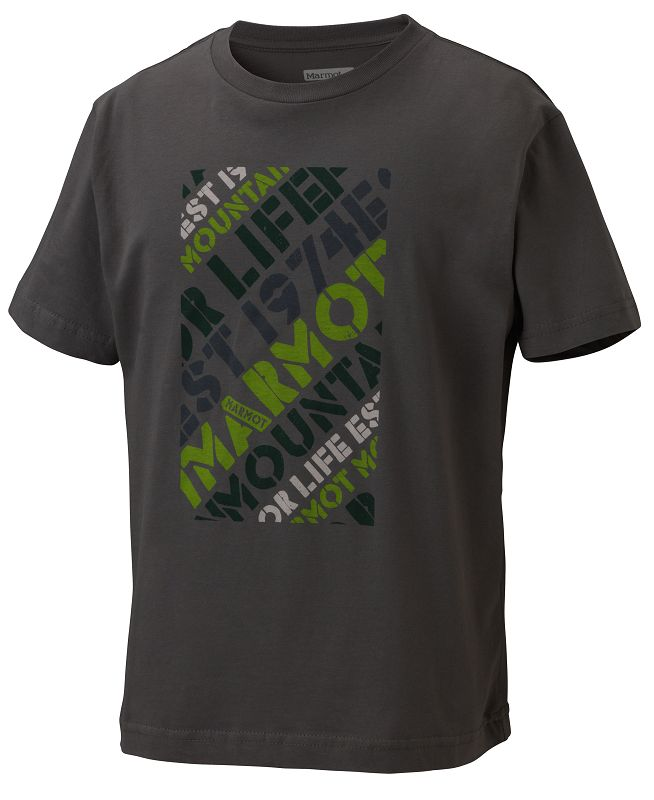 Marmot Boy's Revival Tee SS Charcoal-30