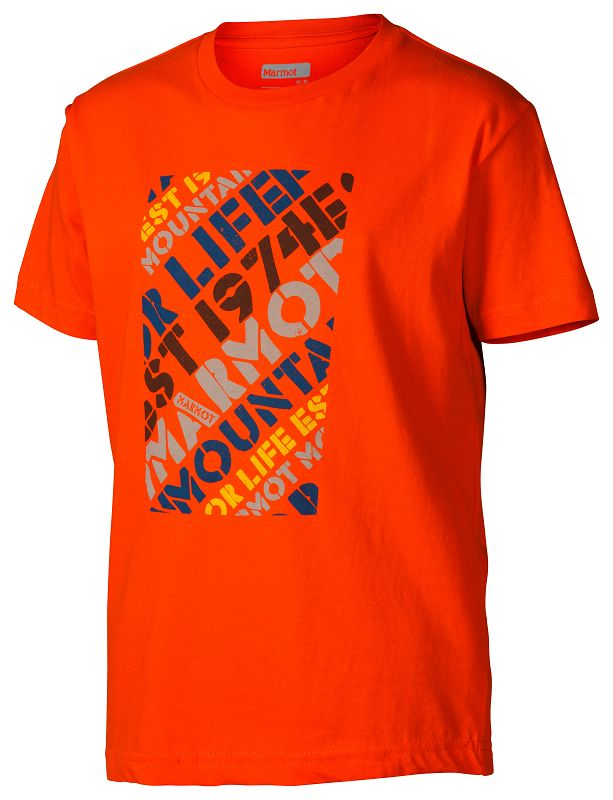 Marmot Boy's Revival Tee SS Orange-30