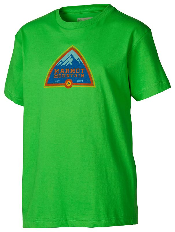 Marmot Boy's Tioga Pass Tee SS Bright Grass-30