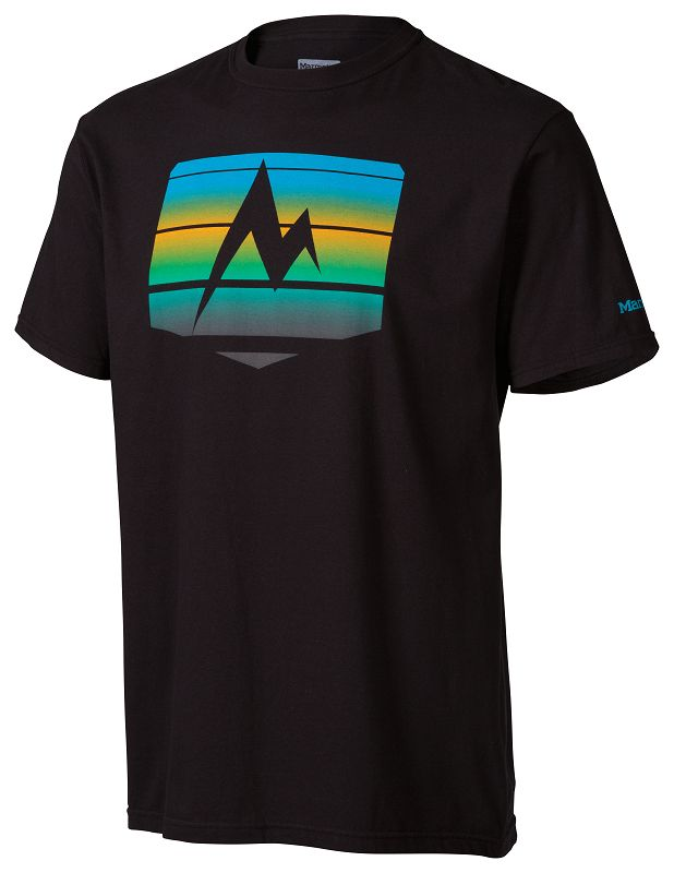 Marmot Sunrise Stripe Tee SS Black-30