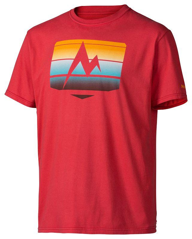 Marmot Sunrise Stripe Tee SS Cardinal-30