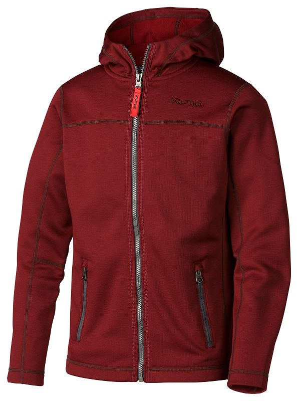 Marmot Boy's Emerson Hoody Redstone Heather-30