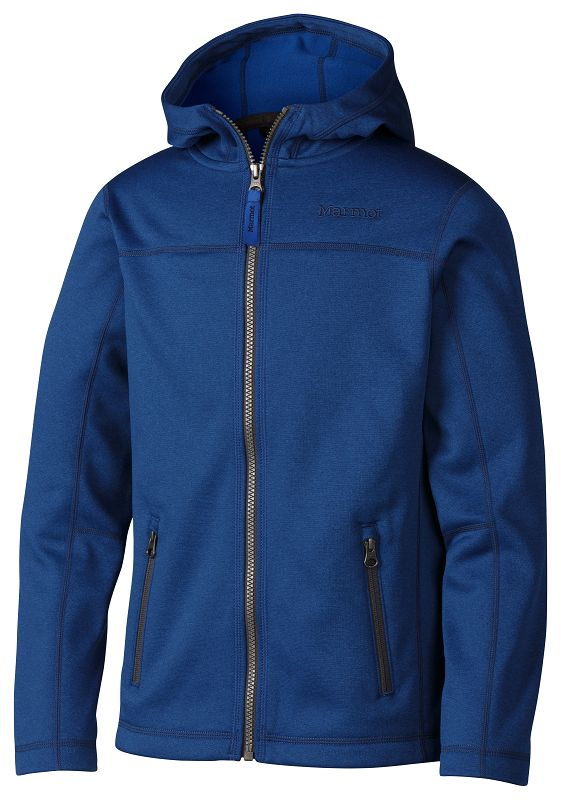 Marmot Boy's Emerson Hoody Blue Sapphire Heather-30