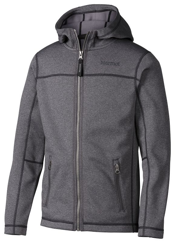 Marmot Boy's Emerson Hoody Slate Grey Heather-30