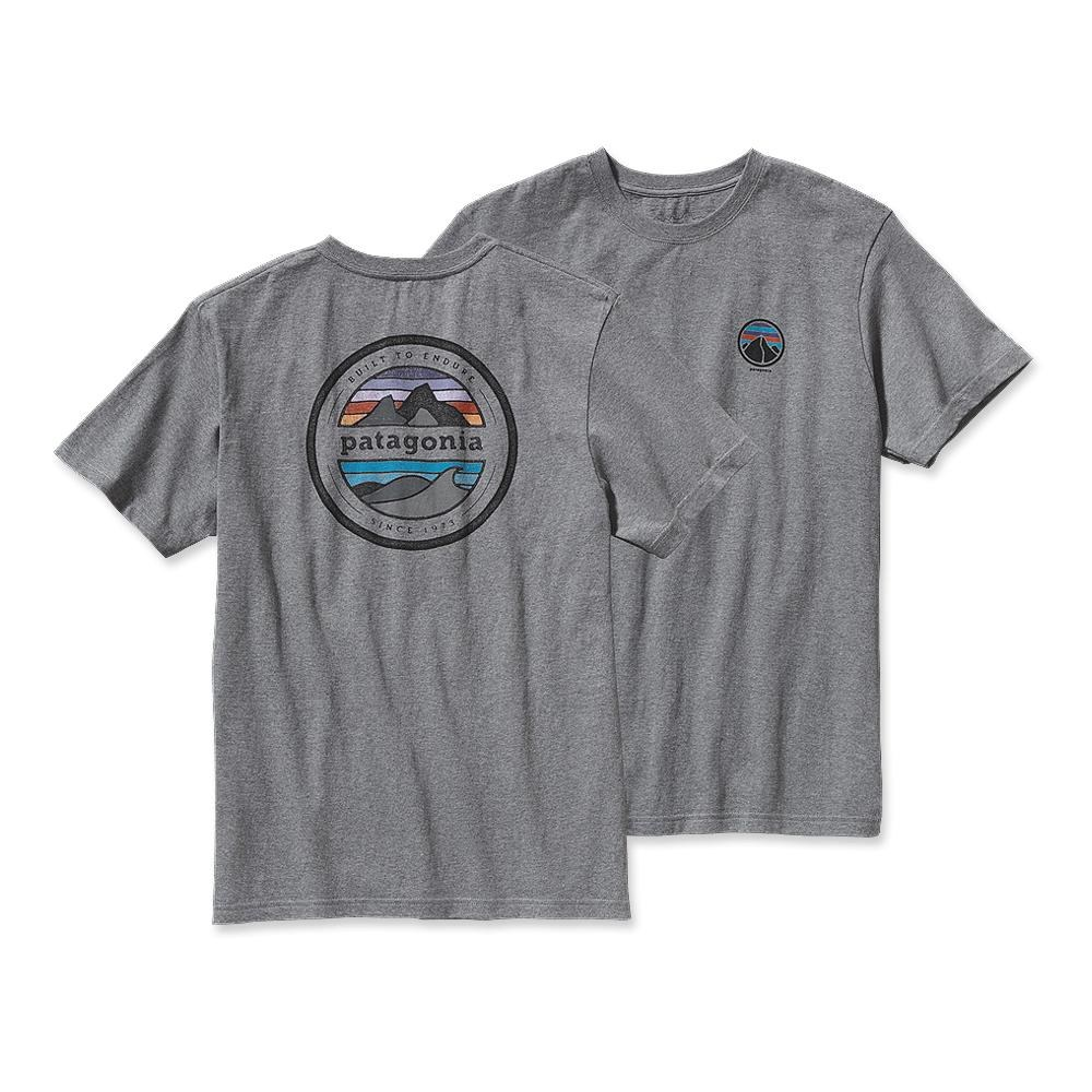 Patagonia Rivet Logo T-Shirt Gravel Heather-30