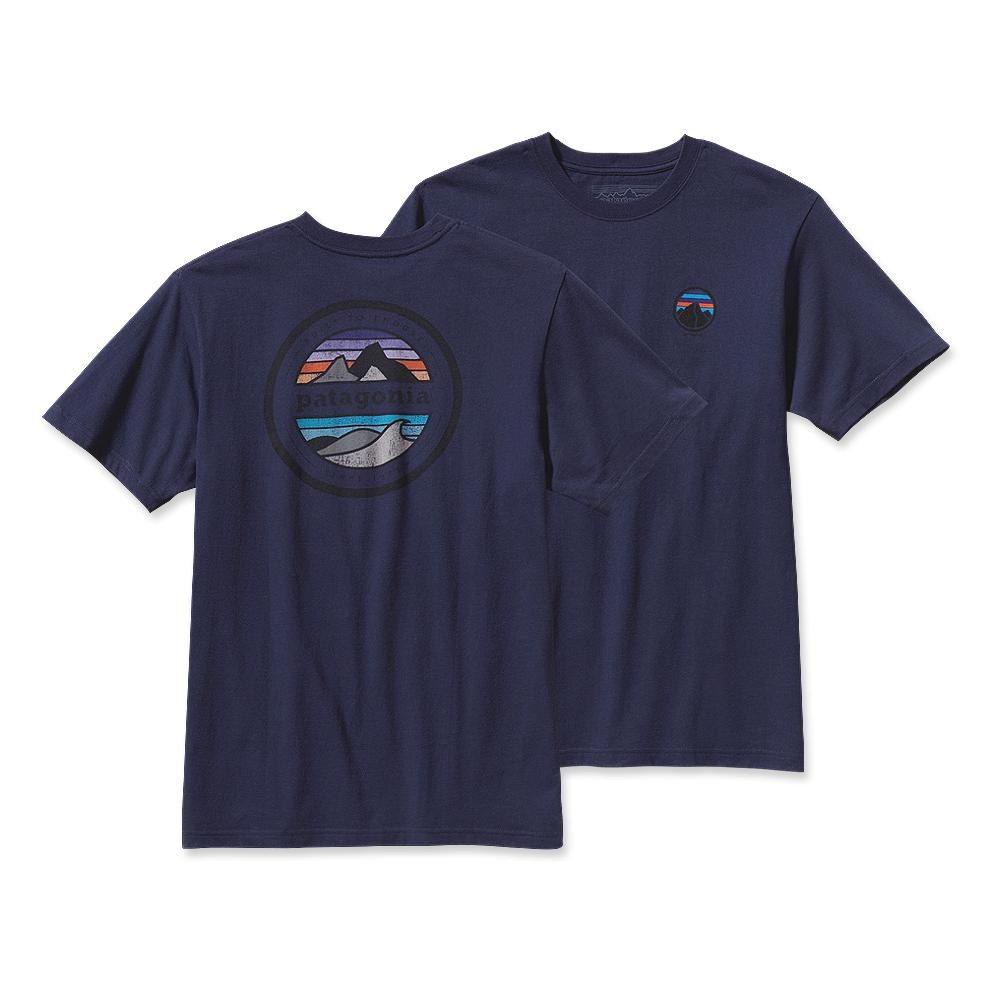 Patagonia Rivet Logo T-Shirt Classic Navy-30