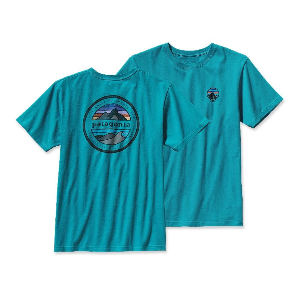 Patagonia Rivet Logo T-Shirt Tobago Blue-30