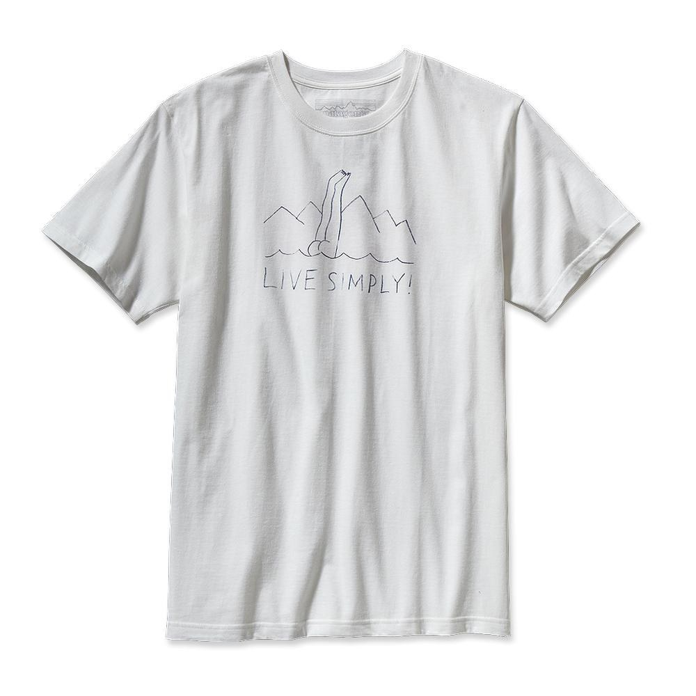 Patagonia Live Simply Dive-In T-Shirt White-30