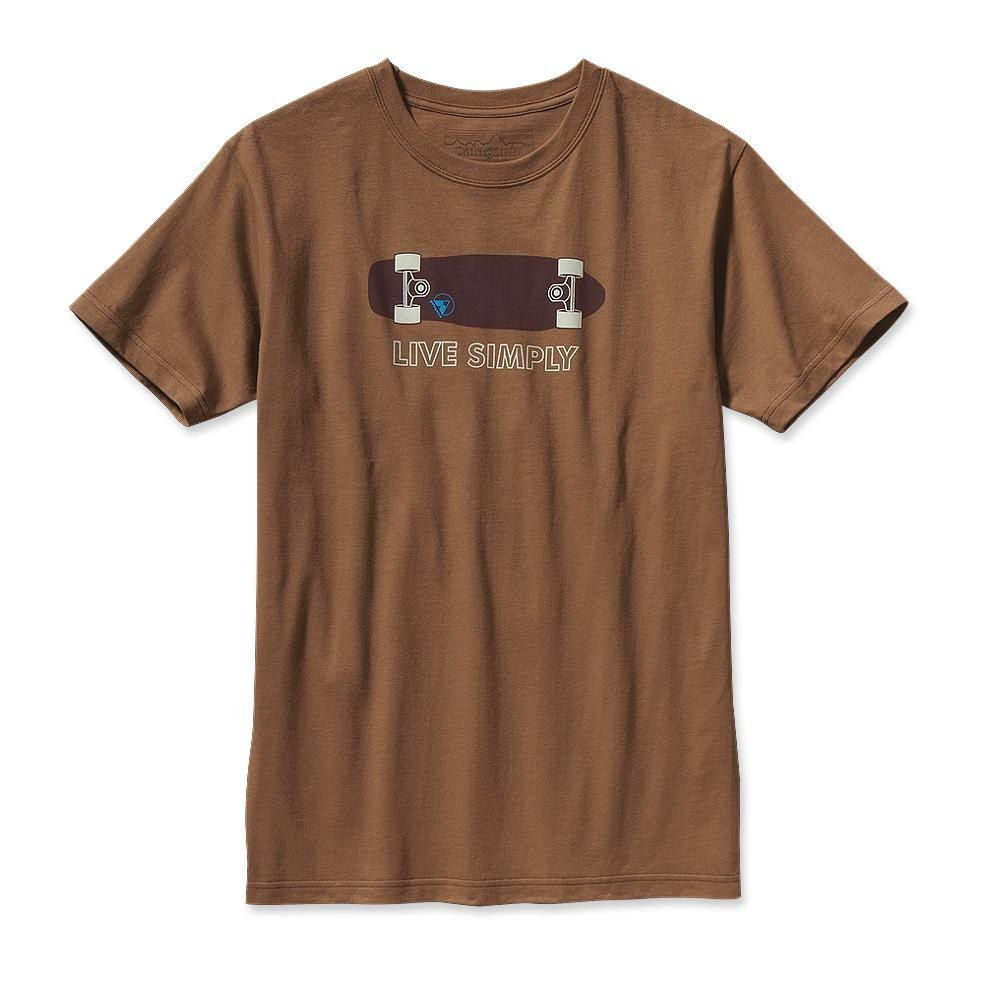 Patagonia Live Simply Skateboard T-Shirt Sepia Brown-30