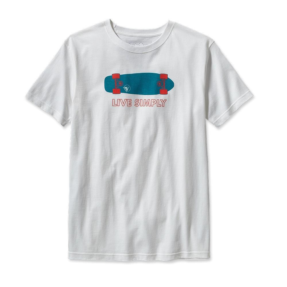 Patagonia Live Simply Skateboard T-Shirt White-30