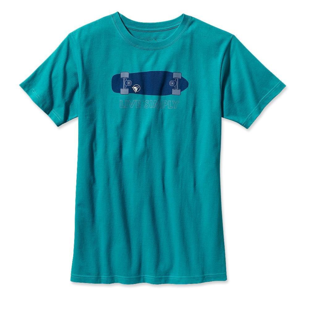 Patagonia Live Simply Skateboard T-Shirt Tobago Blue-30