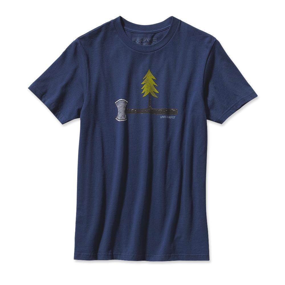 Patagonia Live Simply Every Tree Counts T-Shirt Classic Navy-30